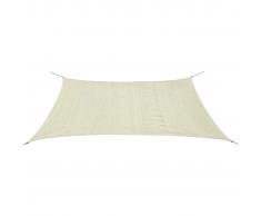 vidaXL Toldo de vela rectangular HDPE 2x4m crema