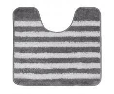 Sealskin Alfombra de baño alrededor de inodoro gris a rayas 45 x 50 cm