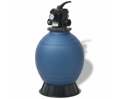 vidaXL Filtro de arena la piscina 18 inch/460 mm redonda azul