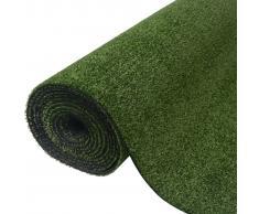 vidaXL Césped artificial 0,5x5 m/7-9 mm verde