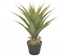 vidaXL Planta artificial yuca con macetero verde 90 cm