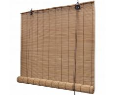 vidaXL Persiana enrollable de bambú marrón 140x220 cm