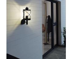 EGLO Lámpara de pared para jardín Hilburn negro 20x17x37,5 cm