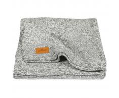 Jollein Manta tejido lavado a la piedra 75x100 cm gris 516-511-65061