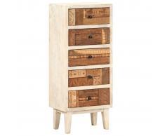 vidaXL Cajonera de madera maciza reciclada 45x30x105 cm