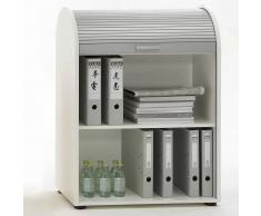 FMD Armario archivador de puerta corredera blanco 72x39x93,5cm 292-011