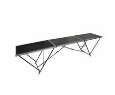 vidaXL Mesa de empapelar aluminio y acero