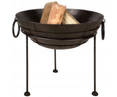 Esschert Design fuente de fuego de metal reciclado 55 cm FF245