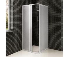 vidaXL Mampara de ducha con marco de aluminio, 80 x 90 cm