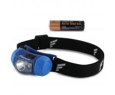FAVOUR Linterna frontal de cabeza AIRBAND 100 lm azul H1411