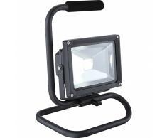 GLOBO Lámpara de suelo LED exterior PROJECTEUR aluminio gris 34115A