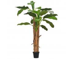 vidaXL Árbol bananero artificial con macetero 250 cm verde