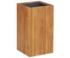 vidaXL Jardinera de madera maciza de acacia 33,5x33,5x60 cm