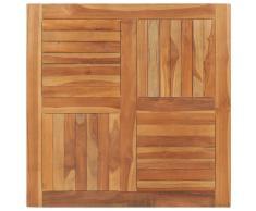 vidaXL Superficie de mesa cuadrada madera maciza de teca 90x90x2,5 cm