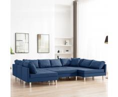 vidaXL Sofá modular de tela azul