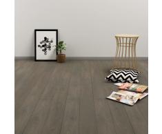 vidaXL Tarima flotante de click 3,51 m² 4 mm PVC gris y marrón