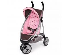 Bayer Cochecito de muñeca Jogger Sport marrón y rosado 39920AA