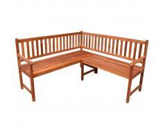 vidaXL Banco de esquina de jardín 150 cm madera maciza de acacia