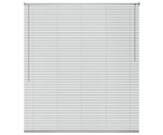 vidaXL Persiana aluminio 60x220 cm plateada