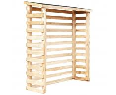 vidaXL Caseta de leña para jardín madera de pino 160x50x170 cm