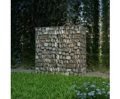 vidaXL Cesta de muro de gaviones acero galvanizado 100x50x100 cm