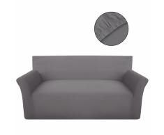 vidaXL funda elástica de algodón jersey para sofá color gris