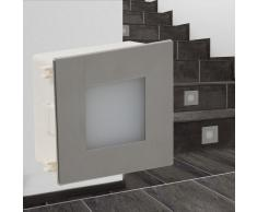 vidaXL Foco LED empotrable para escaleras 85 x 48 x 85 mm
