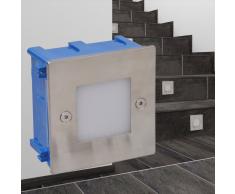 vidaXL Foco LED empotrable para escaleras 85 x 48 mm