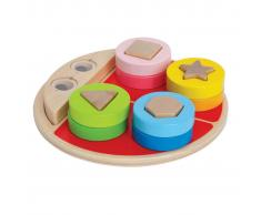 Hape Juego de bloques de madera para niños, marca E0405