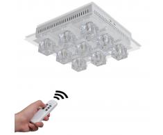 vidaXL Lámpara de techo colgante LED, con colores cambiantes RGB 9