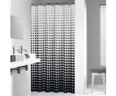 Sealskin cortina de ducha 180 cm modelo Speckles 233601319 (Negra)