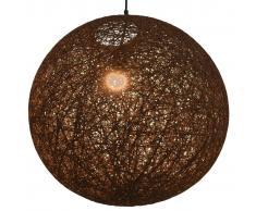 vidaXL Lámpara colgante esférica marrón E27 55 cm