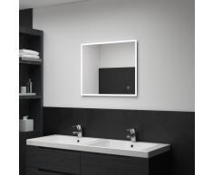 vidaXL Espejo de pared para baño con LED y sensor táctil 60x50 cm