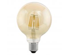 EGLO Bombilla LED de estilo vintage E27 G95 11522, Color ámbar