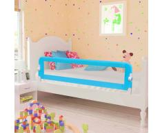 vidaXL Barandilla de seguridad cama de niño poliéster azul 120x42 cm