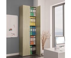 vidaXL Armario de oficina de aglomerado color roble Sonoma 60x32x190cm