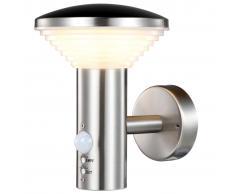 Luxform Lámpara de pared para jardín con sensor PIR Trier LUX1701S