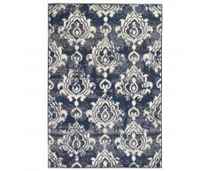 vidaXL Alfombra moderna estampado de cachemir beige/azul 160x230 cm