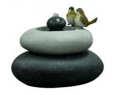 Velda Fuente de jardín con pájaros en doble piedra M 850844