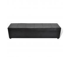 vidaXL Banco baúl de interior, color negro, extra largo