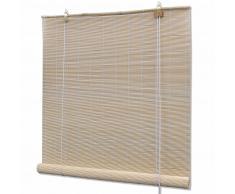 vidaXL Persiana enrollable de bambú color natural 140x220 cm