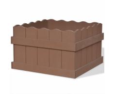 vidaXL Jardinera WPC 40x40x25 cm marrón