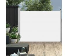 vidaXL Toldo lateral retráctil de jardín color crema 140x500 cm