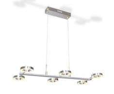 vidaXL Lámpara de techo colgante con 6 luces LED redondas