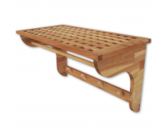 vidaXL Estante de pared una pieza madera nogal 59,4x30x34,5 cm