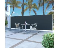 vidaXL Toldo lateral retráctil 160x500 cm negro