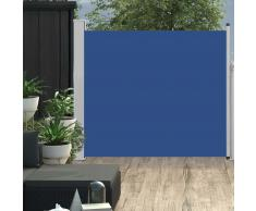 vidaXL Toldo lateral retráctil de jardín azul 100x300 cm