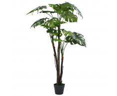 vidaXL Planta de monstera artificial con maceta 130 cm verde