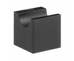 Tiger Gancho toallero negro modelo Nomad 249630746, 4 x 4,4 cm