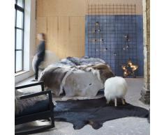 vidaXL Alfombra de piel de vaca auténtica negro 150x170 cm
